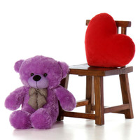 Purple Plush Teddy Bear 30 inch DeeDee Cuddles