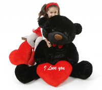 I Love You This Much Bear Hug Care Package with Juju Cuddles Black 48in