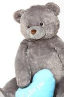 Jumbo Sugar Heart Tubs Teddy Bear with I Love You Blue Heart