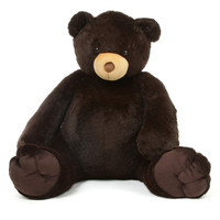 65in Life Size Chocolate Brown Teddy Bear Baby Tubs