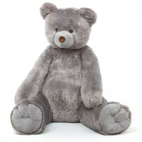 Sugar Tubs Cuddly Grey Plush Teddy Bear 32in