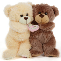 Celebrate Valentines Teddy Bear Style with this cuddlesome couple!