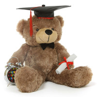 Graduation Gift Teddy Bear with Cap and Diploma
