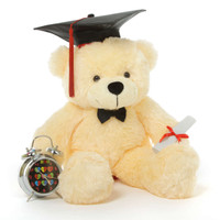 2 Foot Cozy Cream Graduation Teddy Bear