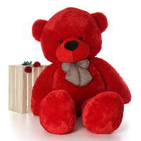 Life Size Red Teddy Bear Plush Gift Bitsy Cuddles 72in