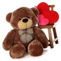 48in Adorable Best Brown Teddy Bear Life Size