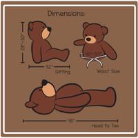 4 Foot Cuddles Dimensions