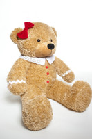 Unique one of a kind Gingerbread Teddy Bear for Christmas Present