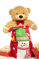 2 Foot Amber Brown Ginger Bred Teddy Bear for Christmas