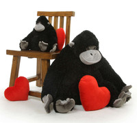 Princess Cutie is not your average gorilla stuffed animal, she is stuffed with motherly love!