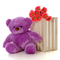 30'' Big Purple Teddy Bear Lila Chubs
