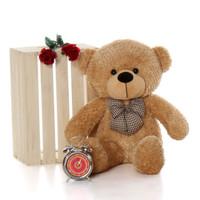 2.5ft cute Oversized Amber Brown Teddy Bear Shaggy Cuddles