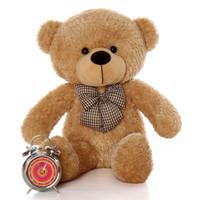 30in Shaggy Cuddles Amber Brown Teddy Bear
