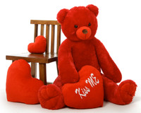Scarlet Tubs 42in teddy bear with Red Kiss Me Heart