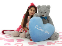 Sugar Woolly Tubs 32in or 42in Valentine's Day Teddy Bear
