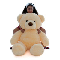 48in Smiley Chubs Giant plush for hugging, with a huge tubby body with a cute little tail