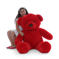 48in Adorable Extra Plump Red Riley Chubs  Giant Soft Plush Teddy Bear