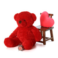 Adorable Extra Plump Red Riley Chubs  Giant Soft Plush Teddy Bear 48in