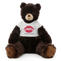 2½ ft Baby Tubs Cuddly Dark Brown Prom Teddy Bear (Prom 2014- Red Lips)