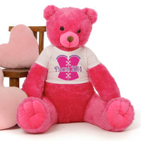 3½ ft Cherry Tubs Cuddly Hot Pink Prom 2014 Teddy Bear (Hearts NOT included)
