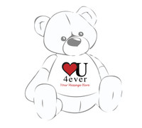 Heart You Forever Giant Teddy Personalized T shirt