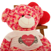 Close up of Sassy Big Love 42in Valentine's Day Teddy Bear