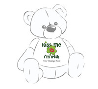 Personalized 'Kiss Me I'm Irish' Giant Teddy Bear Shirt