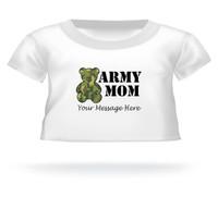 Personalized Camouflage Army Mom Giant Teddy Bear shirt