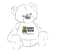 Camouflage Bear Army Mom Personalized Giant Teddy Bear shirt