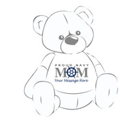 Personalized Proud Navy Mom Ship's Wheel Giant Teddy Bear shirt