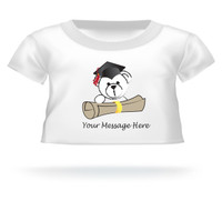 Personalized Giant Teddy bear shirt Bear peeking over diploma