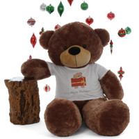5ft Big Happy Holidays  Life Size Mocha Brown Teddy Bear Sunny Beary special Cuddles