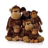 Big Stuffed Monkeys family from Giant Teddy brand