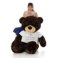 Personalized Class of 2017 5ft Brownie Cuddles Chocolate Brown Teddy Bear