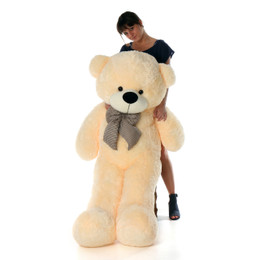 5ft Life Size Cozy Cuddles Cream Teddy Bear