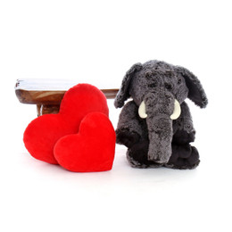 30in Grey Lucy Elephant Oversized Big Stuffed Animal