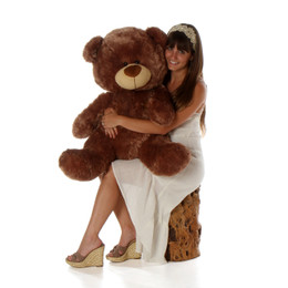 3ft Mocha Brown Teddy Bear Tiny Shags