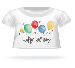 Giant Teddy Bear Happy Birthday T-shirt