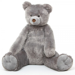 Sugar Tubs Large Grey Cuddly Plush Teddy Bear 48in