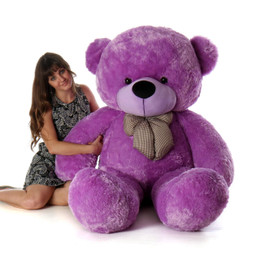 Life Size Purple Teddy Bear DeeDee Cuddles 72in