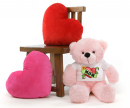 Lady M Cuddles Pink Mothers Day Teddy Bear Gift 30in