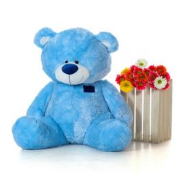 45 Inch Blue Teddy Bear Giant Teddy Brand Sitting Position Shags Bear