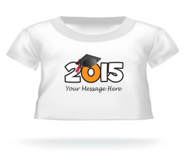 Personalized 2015 Graduation Giant Teddy shirt