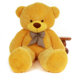 72in Life Size biggest Yellow Teddy Bear sunshine Daisy Cuddles Giant Teddy cute and Huggable