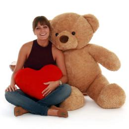 48in Cutie Chubs Jumbo Size Soft Amber Fur Teddy Bear Gift
