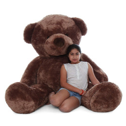 Big Mocha Teddy huggable Bear Big Chubs 72in
