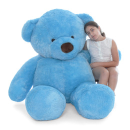 36fa31bed Biggest blue teddy bear huggable Sammy Chubs sky blue fur 6ft tall Giant  Teddy brand