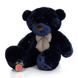 Big 60in Royce Cuddles Navy Blue Soft Teddy Bear