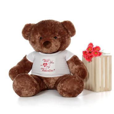 5ft Big Chubs Mocha Brown Teddy Bear for Valentine's Day
