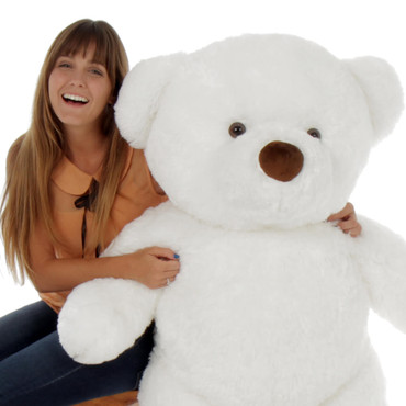 48in Sprinkle Chubs Giant White Teddy Bear